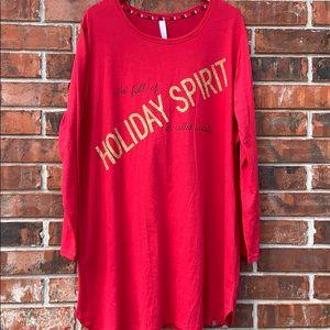 Cacique Holiday Sleepwear Gown Kane Bryant Sz18/20